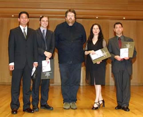 Takemitsu Prize finals, Tokyo Opera City, with Oliver Knussen
