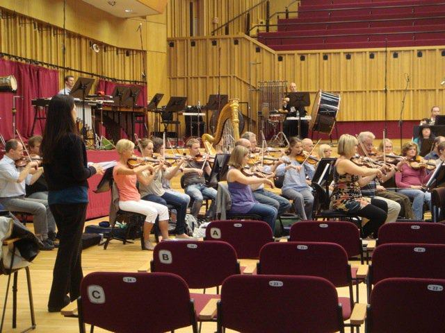 Rehearsing 'Art of War' with Tonu Kaljuste and the BBC National Orchestra of Wales